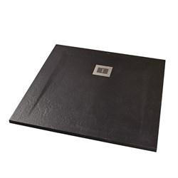 Поддон для душа Sanitana ROCKS 900х900 черный SP301384384100560 - фото 11779