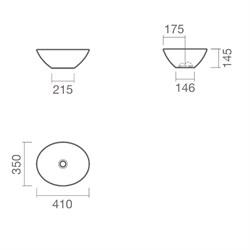 Овальная раковина-чаша Sanitana CUP 41 S10009950400000 ( CPLM1E ) - фото 11823