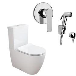 Комплект  3 в 1 NC444661arona: унитаз-компакт  CORAL  с сиденьем  (микролифт) и гигиенический душ ARONA (PAINI, Италия) - фото 11906