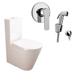 Комплект  3 в 1 NC111661arona: унитаз-компакт  GLAM  с сиденьем  (микролифт) и гигиенический душ ARONA (PAINI, Италия) - фото 11938