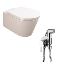 Комплект  3 в 1 N111661aosta: подвесной унитаз  GLAM  с сиденьем  (микролифт) и гигиенический душ AOSTA (PAINI, Италия) - фото 11964