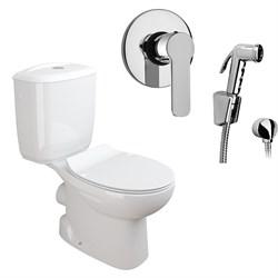 Комплект  3 в 1 NC555661arona: унитаз-компакт  MUNIQUE  с сиденьем  (микролифт) и гигиенический душ ARONA (PAINI, Италия) - фото 11972