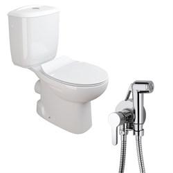 Комплект  3 в 1 NC555661aosta: унитаз-компакт  MUNIQUE  с сиденьем  (микролифт) и гигиенический душ AOSTA (PAINI, Италия) - фото 11982
