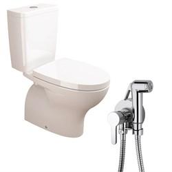 Комплект  3 в 1 NC999661aosta: унитаз-компакт  POP  с сиденьем  (микролифт) и гигиенический душ AOSTA (PAINI, Италия) - фото 12015