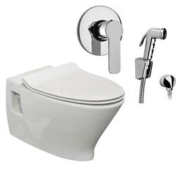 Комплект  3 в 1 N777661arona: подвесной унитаз  POP ART с сиденьем  (микролифт) и гигиенический душ ARONA (PAINI, Италия) - фото 12052