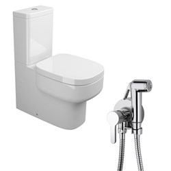 Комплект  3 в 1 NC222661aosta: унитаз-компакт  BE YOU  с сиденьем  (микролифт) и гигиенический душ AOSTA (PAINI, Италия) - фото 12122