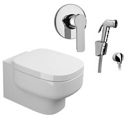 Комплект  3 в 1 N222661arona: подвесной унитаз  BE YOU  с сиденьем  (микролифт) и гигиенический душ ARONA (PAINI, Италия) - фото 12130