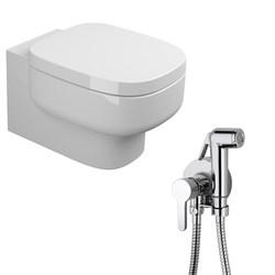 Комплект  3 в 1 N222661aosta: подвесной унитаз  BE YOU  с сиденьем  (микролифт) и гигиенический душ AOSTA (PAINI, Италия) - фото 12137