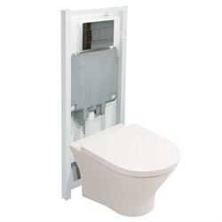 Комплект 4в1 Nexo S222661: подвесной  унитаз, сиденье мкр.лифт, инсталляция, панель Slim, хром - фото 12234