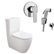 Комплект  3 в 1 NC444661arona: унитаз-компакт  CORAL  с сиденьем  (микролифт) и гигиенический душ ARONA (PAINI, Италия)