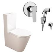 Комплект  3 в 1 NC111661arona: унитаз-компакт  GLAM  с сиденьем  (микролифт) и гигиенический душ ARONA (PAINI, Италия)