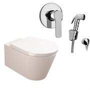 Комплект  3 в 1 N111661arona: подвесной унитаз  GLAM  с сиденьем  (микролифт) и гигиенический душ ARONA (PAINI, Италия)