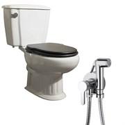 Комплект  3 в 1 NC888661aosta: унитаз-компакт  GRECIA  с сиденьем  и гигиенический душ AOSTA (PAINI, Италия)