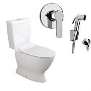 Комплект  3 в 1 NC666661arona: унитаз-компакт  KAPA  с сиденьем  (микролифт) и гигиенический душ ARONA (PAINI, Италия)