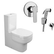 Комплект  3 в 1 NC222661arona: унитаз-компакт  BE YOU  с сиденьем  (микролифт) и гигиенический душ ARONA (PAINI, Италия)
